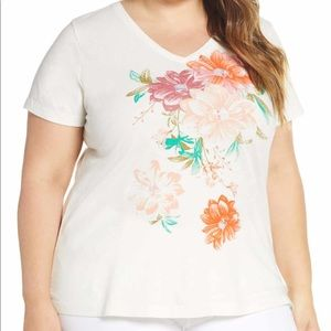 NWT Lucky Brand Bouquet Graphic Tee